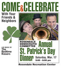 Rosendale Democratic Committee St Patrick039s Day Dinner with the Bedtime Kissers